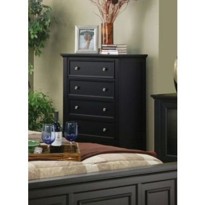 Sandy Beach Chest in Black finish - 201325