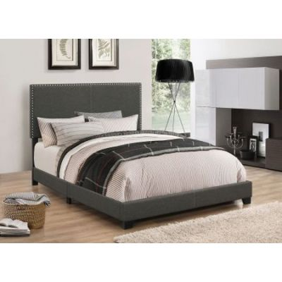 Boyd Upholstered King Bed in Charcoal - 350061KE
