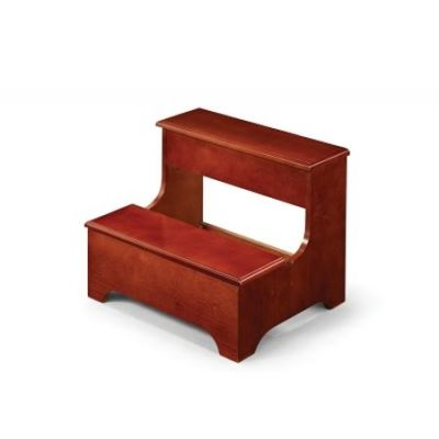 Traditional Step Stool with Storage in Cherry - 3910