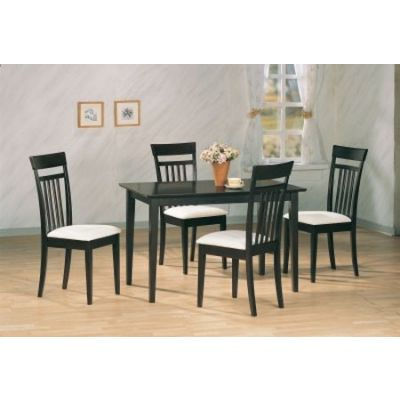 Andrews 5 Piece Upholstered Chair Dining Set in Cappuccino