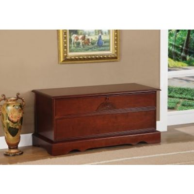 Cedar Chest with Locking Lid in Cherry - 4694