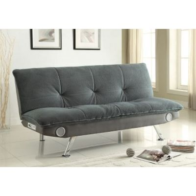 Convertible Armless Sofa Bed with Built-In Bluetooth Speaker - 500046