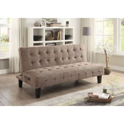 Taupe Sofa Bed With Power Outlet And USB - 500295