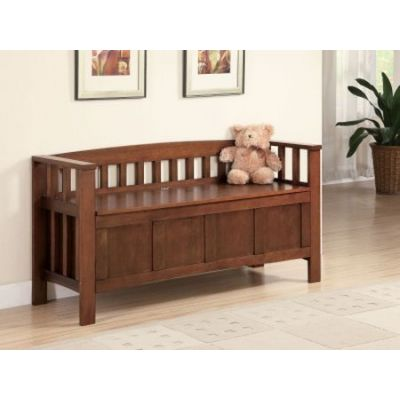 Wood Storage Bench - 501008