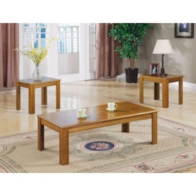 3 Piece Occasional Table Set in Natural Oak - 5168