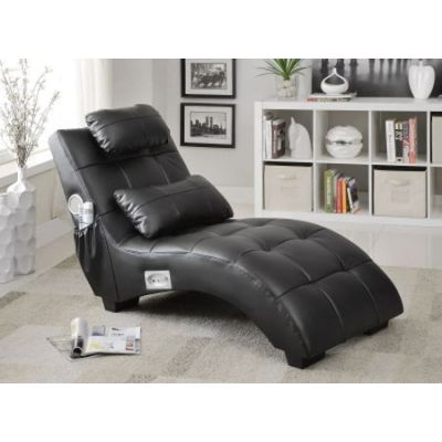 Upholstered Chaise with Lumbar Pillow and Bluetooth - 550018
