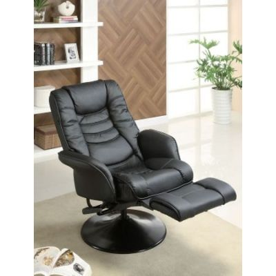 Ginny's Black Leatherette Recliner Chair - 600229
