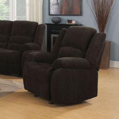 Fabric Recliner in Brown - 601463