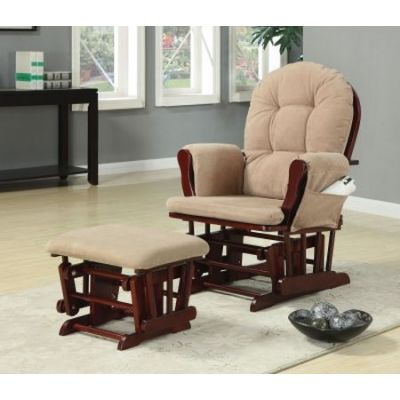 Beige Glider Ginny's Chair with Ottoman - 650010