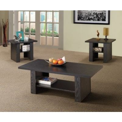 Black 3 Pieces Nesting Occasional Set - 700345