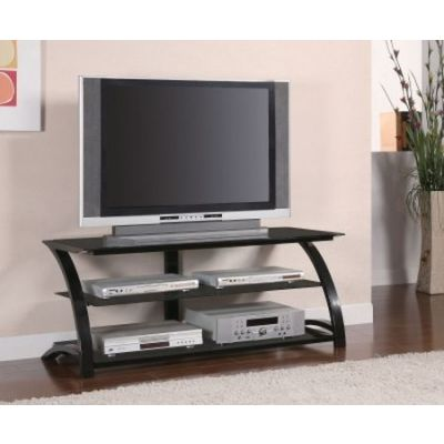 Black Metal and Glass Media TV Console - 700664