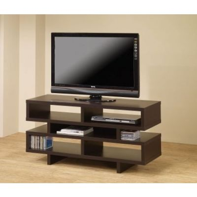 Cappuccino Media TV Console with Open Storage - 700720