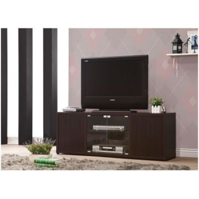 Tv Console With Push-To-Open Glass Doors - 700886