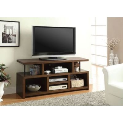 Brown Media TV Console with Open Storage - 701374