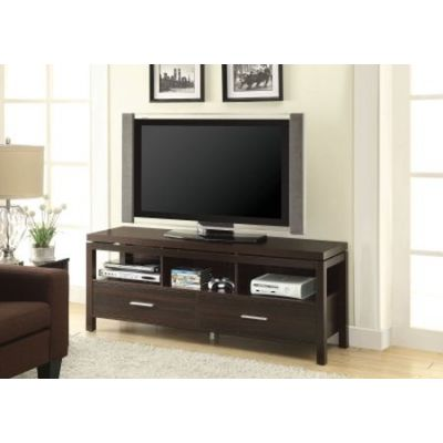 Walnut Wall Units Media TV Console With Drawers - 701971