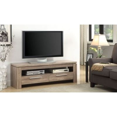 Wall Units Distressed Brown Weathered TV Console - 701975