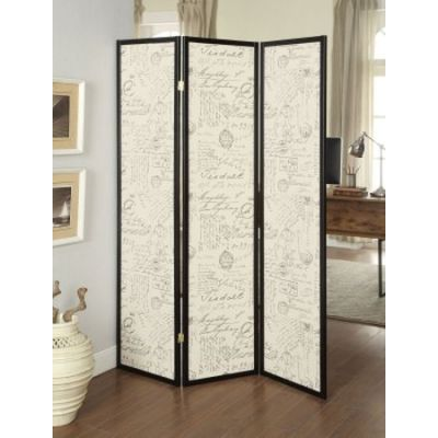 3 Panel Folding Screen in Postal Script - 900074