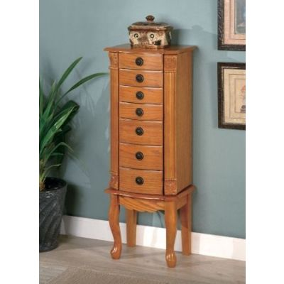 Classic Oak Jewelry Armoire - 900135