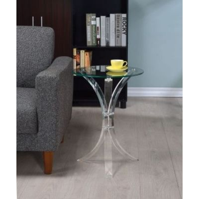 Accent Table with Glass Top - 900490