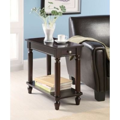 Cappuccino Chairside Table In Cappuccino Finish - 900972