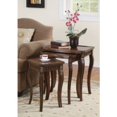 3 Piece Curved Leg Nesting Tables Set - 901076
