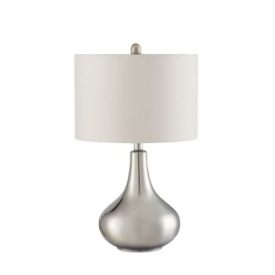 Teardrop Shape Table Lamp in Silver - 901525