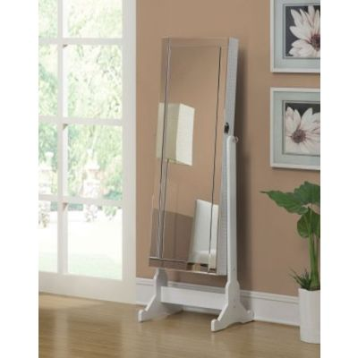 White Jewelry Cheval Mirror - 901827