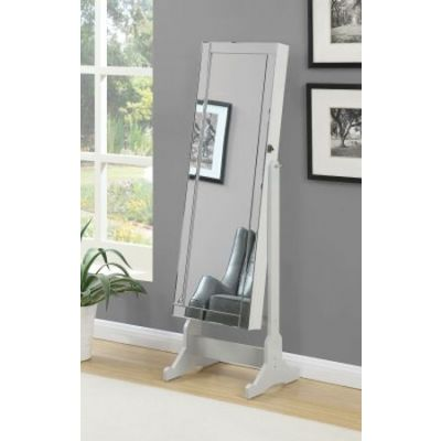 Jewelry Armoire Mirror in Gray - 901866