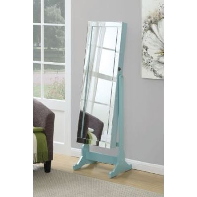 Light Blue Jewelry Cheval Mirror - 901867