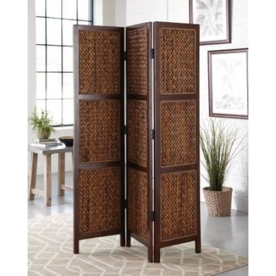 Folding Screen In Natural Or Honey Finish - 901921