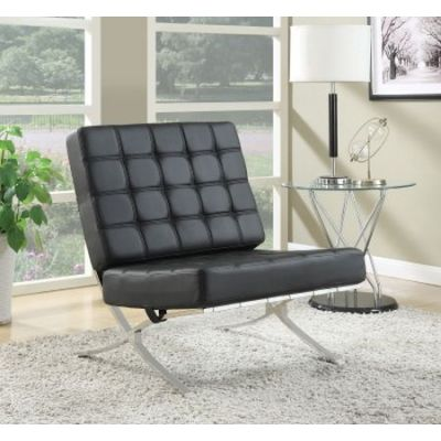 Waffle Accent Chair in Black - 902181