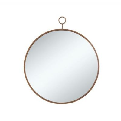 Gold Metal Round Mirror - 902354