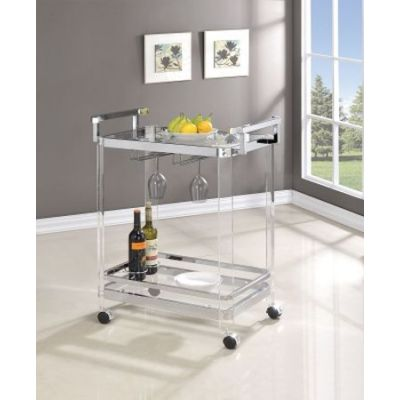 Serving Cart with Clear Glass - 902589