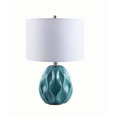Contemporary Ceramic Turquoise Table Lamp - 902935