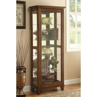 Curio Cabinet with 5 Shelves in Warm - 950188