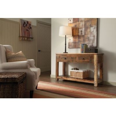 2 Drawer Console Table in Reclaimed Wood - 950364