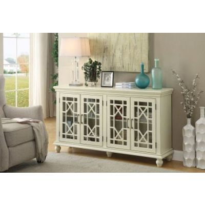 Antique White Accent Cabinet with 4-Doors - 950638