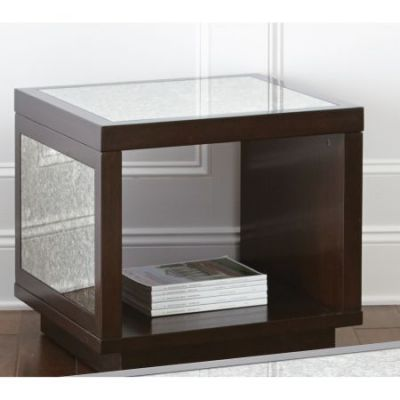 Aileen End Table in Dark Brown - AE100E
