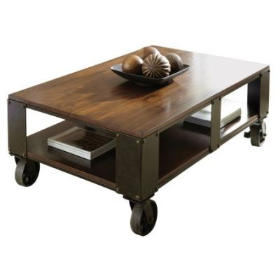 Barrett Cocktail Table in Wood Top & Shelf - BR200CT