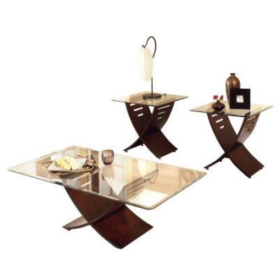 Cafe 3-Pack Table Set in Dark Cherry Brown - CA125BE