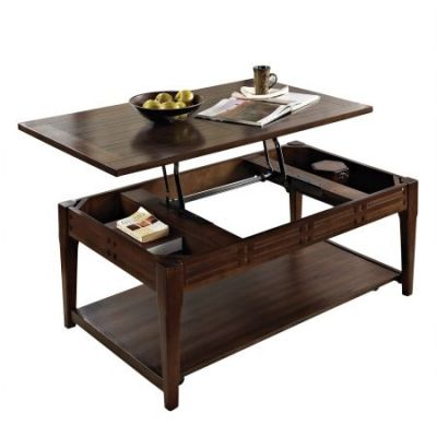 Crestline Lift-Top Cocktail Table in Distressed Walnut - CL200CL