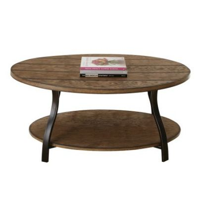 Denise Oval Cocktail Table in Light Oak Finish - DN200C