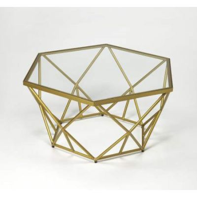 Alondra Gold Powder Coated Cocktail Table - 9321364