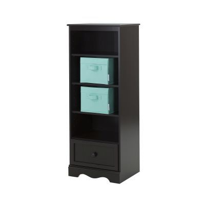 Savannah Espresso Shelving Unit with Drawer and Storage - 100118