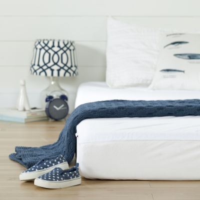 Somea White Basic 6'' Twin Mattress with Mattress Cover - 100173