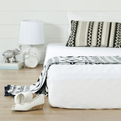 Somea White Basic 8'' Twin Mattress with Mattress Cover - 100174