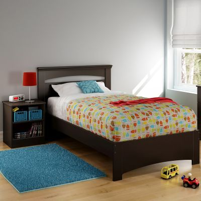 Libra Twin Bed Set with Nightstand Chocolate - 10052
