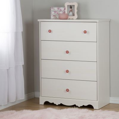 Lily Rose 4-Drawer Chest White Wash - 10077