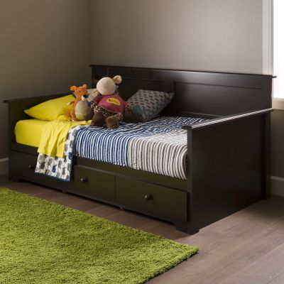 Summer Breeze Twin Daybed with Storage (39'') Chocolate - 10079