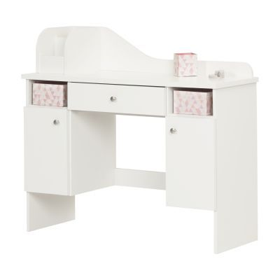 Vito Pure White Makeup Desk with Drawer - 10081